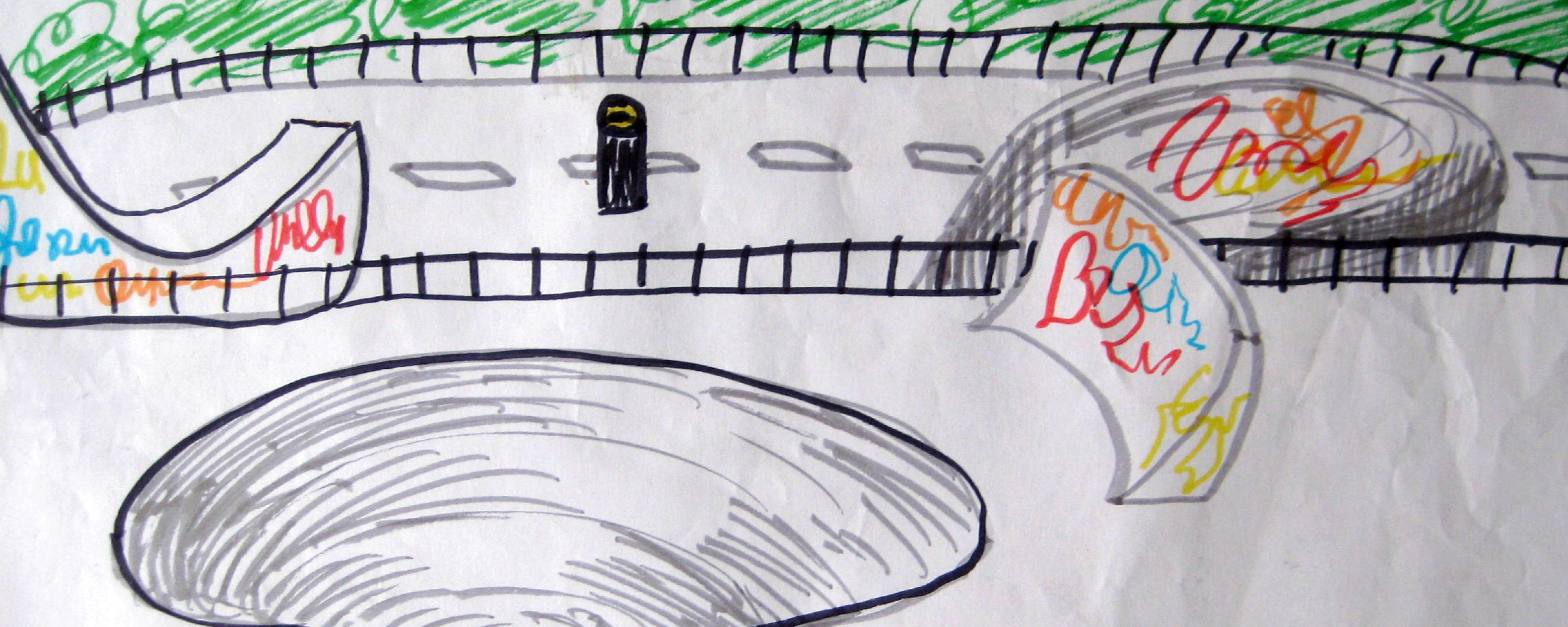 disegno, skate park