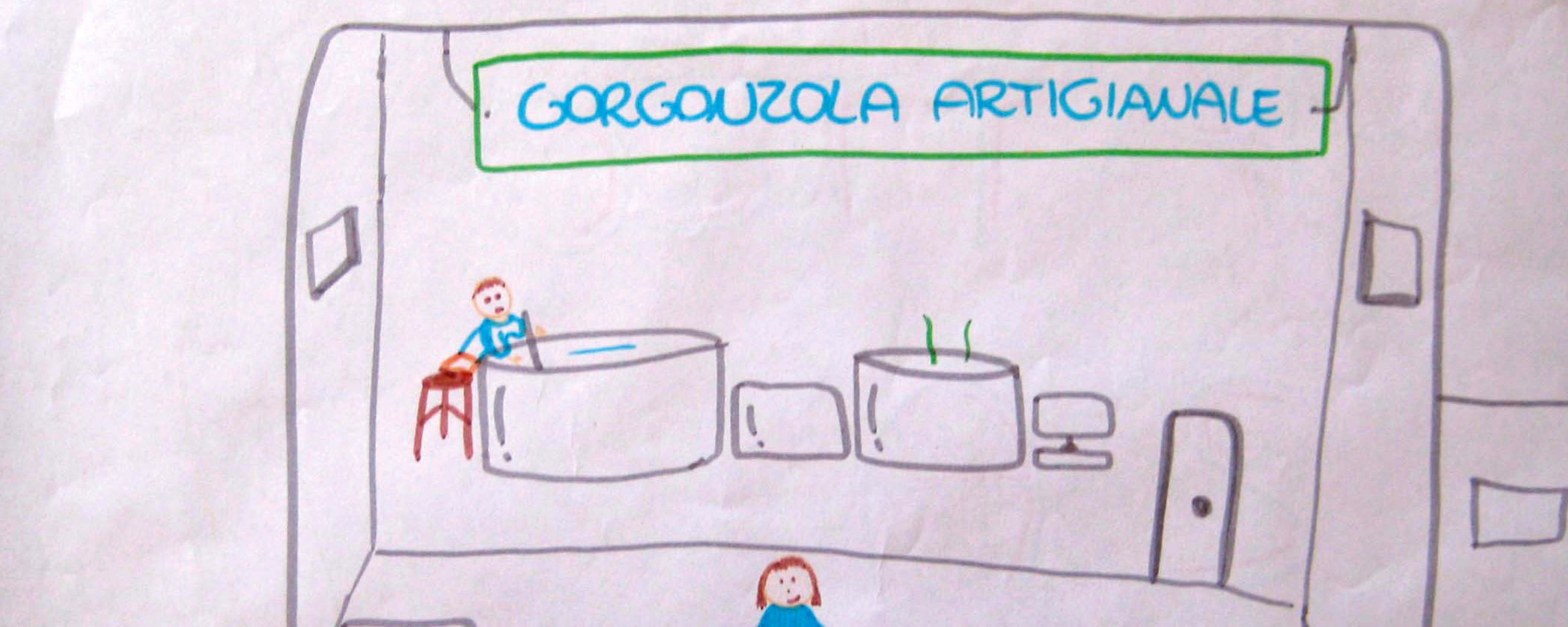 disegno, la fabbrica del gorgonzola