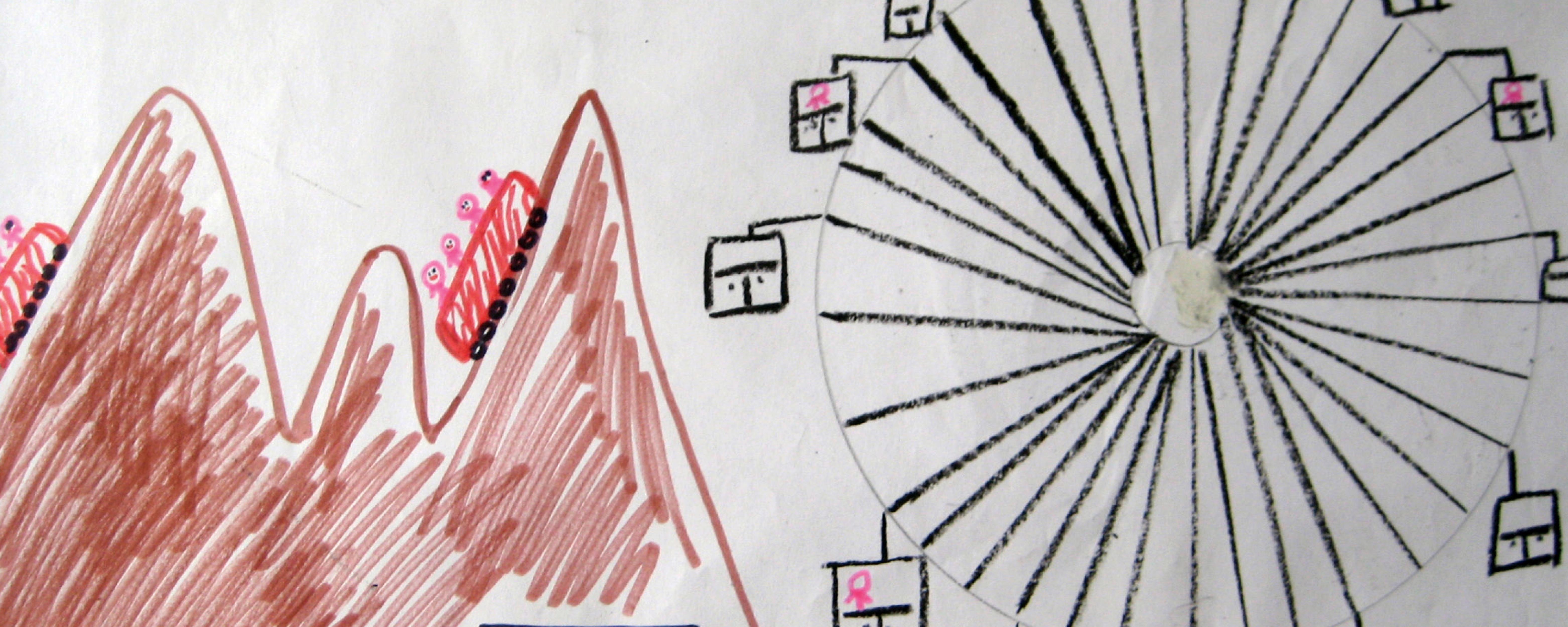 disegno, il luna park