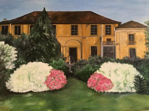 villa ferrario - dipinto di laura brambilla